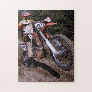 Motocross popping a wheelie jigsaw puzzle
