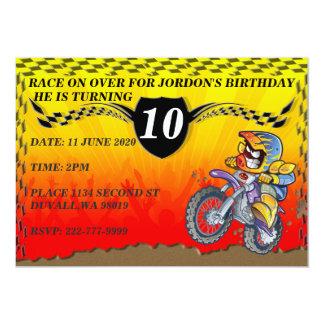 MOTOCROSS RACER CARD