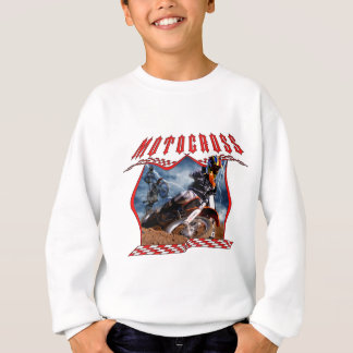 Motocross rider and lightning sweatshirt
