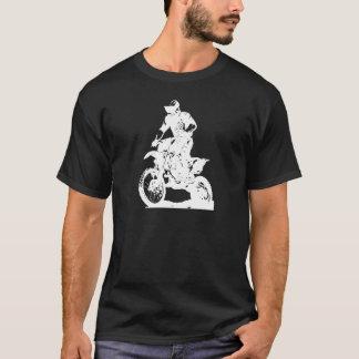 Motocross rider on bike - editable background T-Shirt