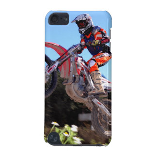Motocross rider taking the jump ipod case