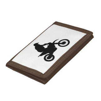Motocross Silhouette Trifold Wallets