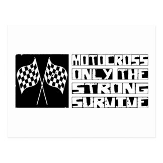 Motocross Survive Postcard
