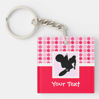 Motocross Whip Double-Sided Square Acrylic Keychain