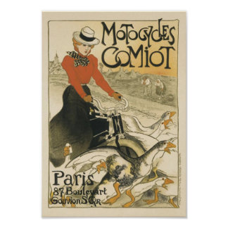 Motocycles Comiot By Theophile-Alexandre Steinlen Poster