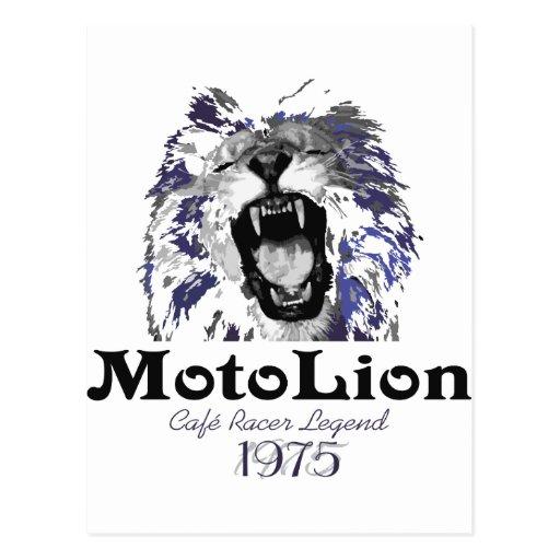 MotoLion Cafe Racer Legend Postcard