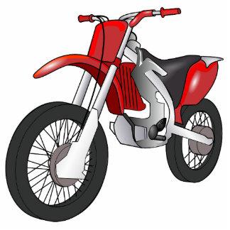 Motor Bike Sports Mud Dirt Dad Son Red Art Fun Photo Sculpture Keychain