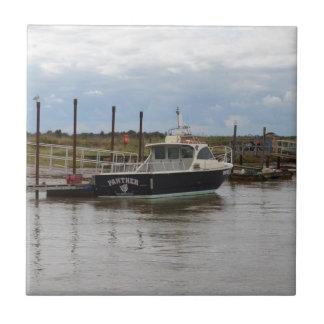 Motor Boat Panther At Southwold Ceramic Tiles