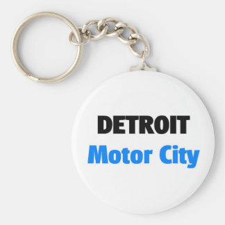 Motor City Detroit Keychain