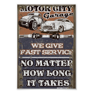 MOTOR CITY METAL SIGN