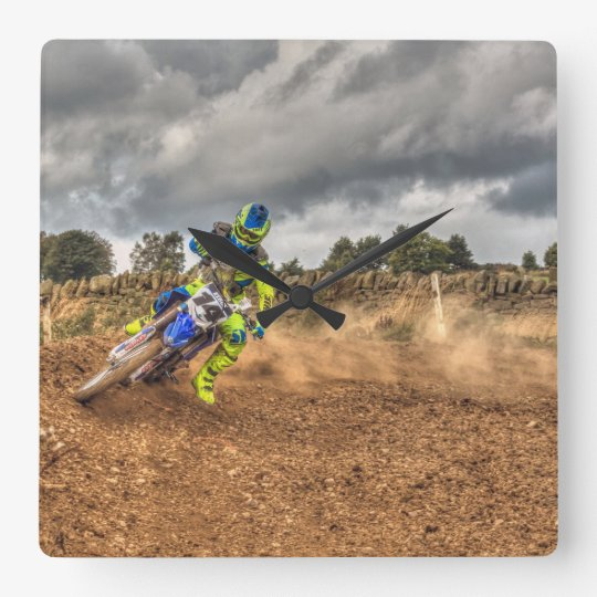 Motor Cross Clock