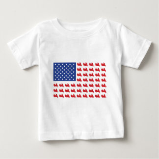 Motor-Cycle-Flag-WING Baby T-Shirt