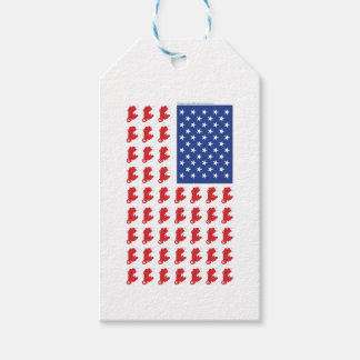 Motor-Cycle-Flag-WING Gift Tags