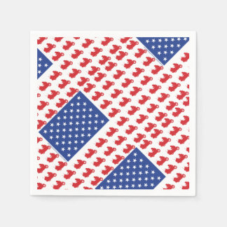 Motor-Cycle-Flag-WING Paper Napkins