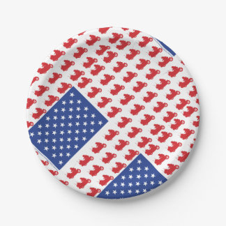 Motor-Cycle-Flag-WING Paper Plate