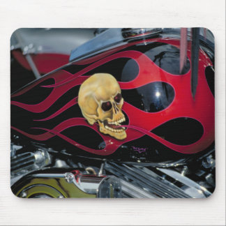 Motor cycle Skull - Fuel Tank Mouse Pad