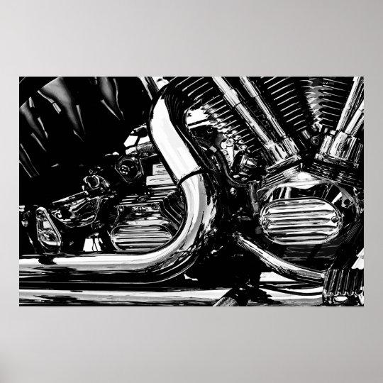 Motor Engine Vector Poster