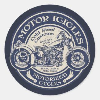 Motor Icicles Round Sticker
