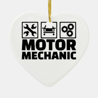 Motor mechanic ceramic heart ornament