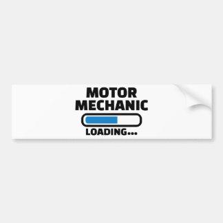 Motor mechanic loading bumper sticker