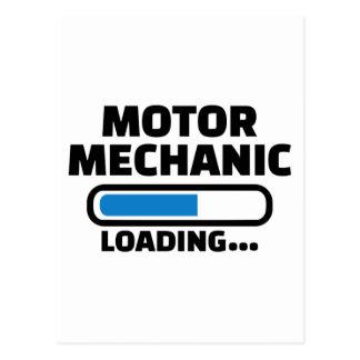 Motor mechanic loading postcard