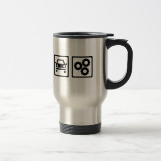 Motor mechanic travel mug