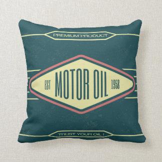 Motor Oil Retro Label Designer Accent Pillows