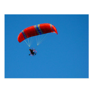 Motor Paraglider on Blue Sky Postcard