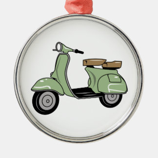 Motor Scooter Metal Ornament