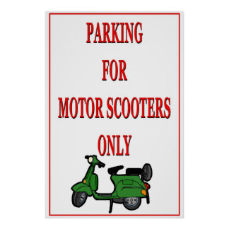 Motor Scooter PArking Poster