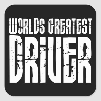 Motor Sports Racing Drivers Worlds Greatest Driver Square Sticker