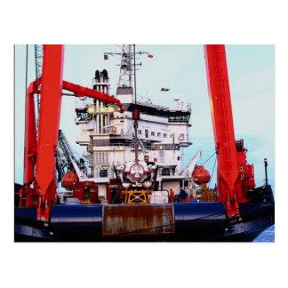 "Motor vessel ""Fennica"", Edinburgh Leith docks Postcard"