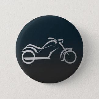 Motorbike artistic silhouette illustration 2 inch round button
