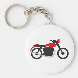motorbike basic round button keychain