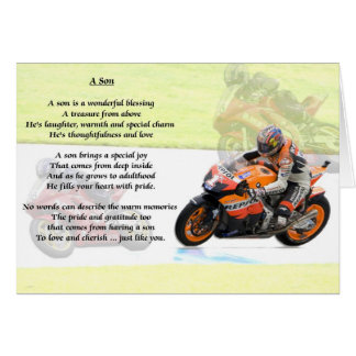 Motorbike Design - Son poem Card