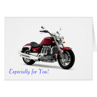 Motorbike image for greeting card