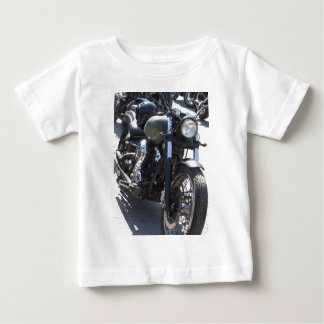 Motorbike in the parking lot . Outdoors lifestyle Baby T-Shirt
