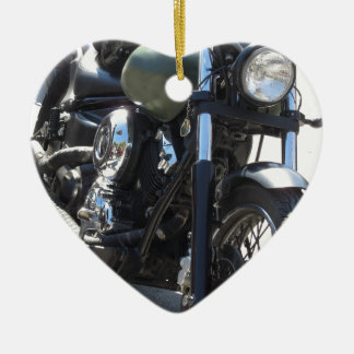Motorbike in the parking lot . Outdoors lifestyle Ceramic Ornament