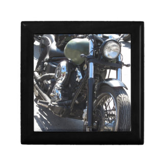 Motorbike in the parking lot . Outdoors lifestyle Gift Box