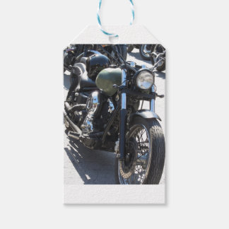Motorbike in the parking lot . Outdoors lifestyle Gift Tags