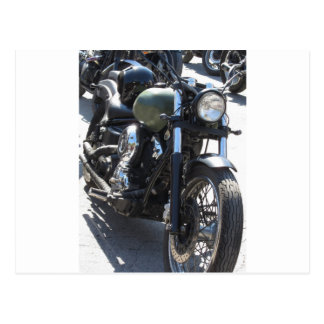 Motorbike in the parking lot . Outdoors lifestyle Postcard