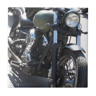 Motorbike in the parking lot . Outdoors lifestyle Tile