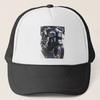 Motorbike in the parking lot . Outdoors lifestyle Trucker Hat