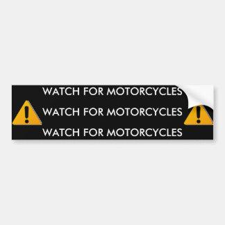 motorbike, motorbike, WATCH FOR MOTORCYCLES, WA... Car Bumper Sticker