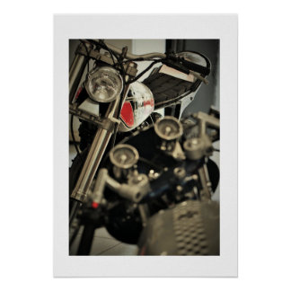 Motorbike Motorcycle Yahama Triumph Photo Poster