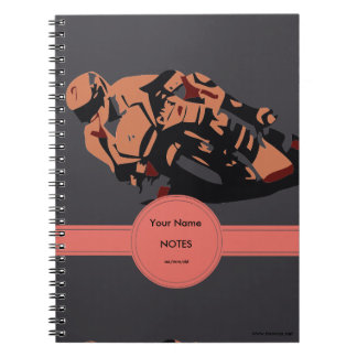 Motorbike Spiral Note Books