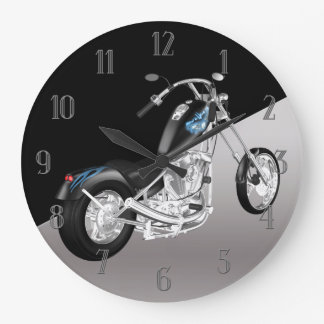 Motorbike Wall Clock