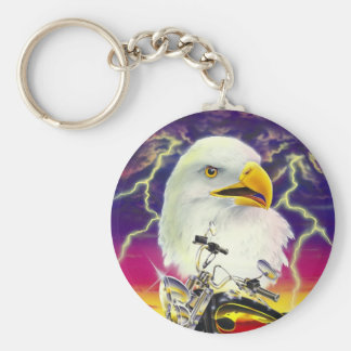 Motorbike with American eagle Keychain