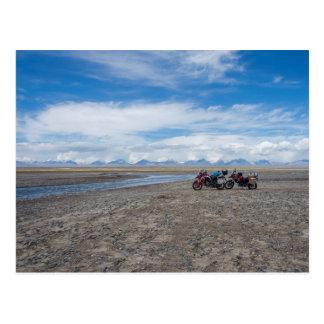 Motorbikes in Kyrgyzstan Postcard