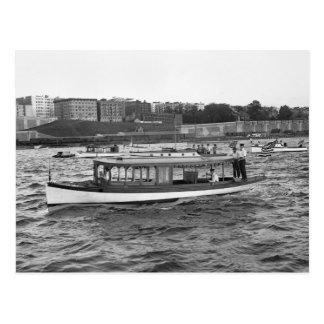 Motorboating on the Hudson River, 1910 Postcard